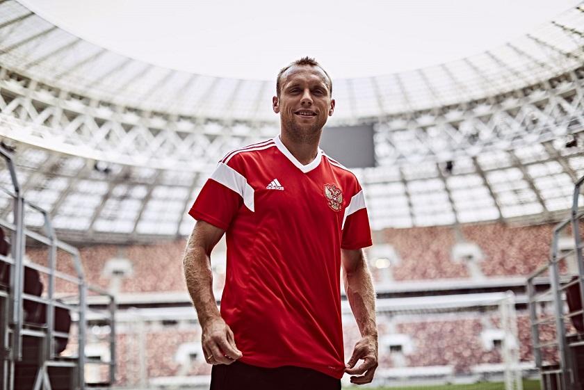 ADIDAS KENALKAN JERSI BARU PASUKAN RUSIA UNTUK PIALA DUNIA FIFA 2018