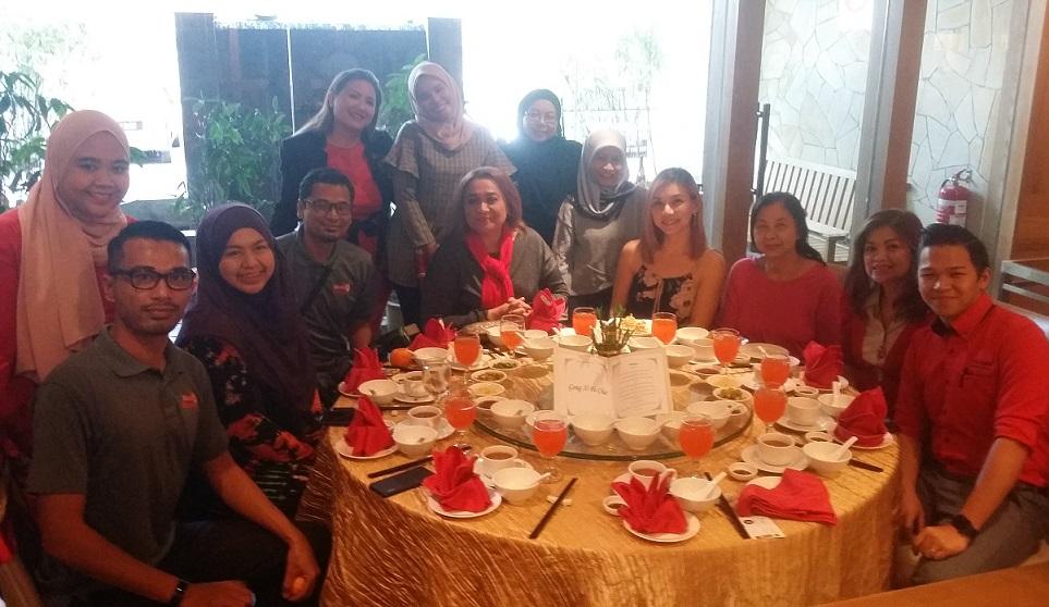 SAMBUT TAHUN BARU CINA DI RESTORAN RAKUXIN CONCORDE HOTEL SHAH ALAM