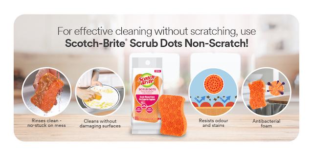 Scotch Brite Scrub Dots Scouring Sponge