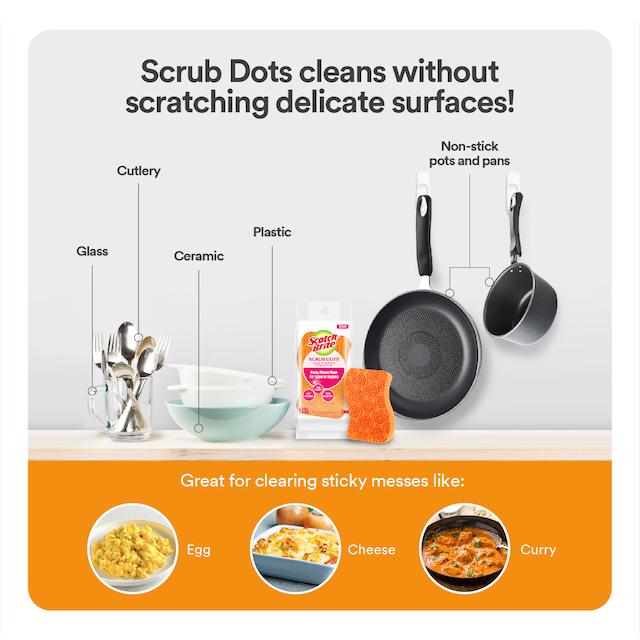 Scotch-Brite Scrub Dots Scouring Sponge