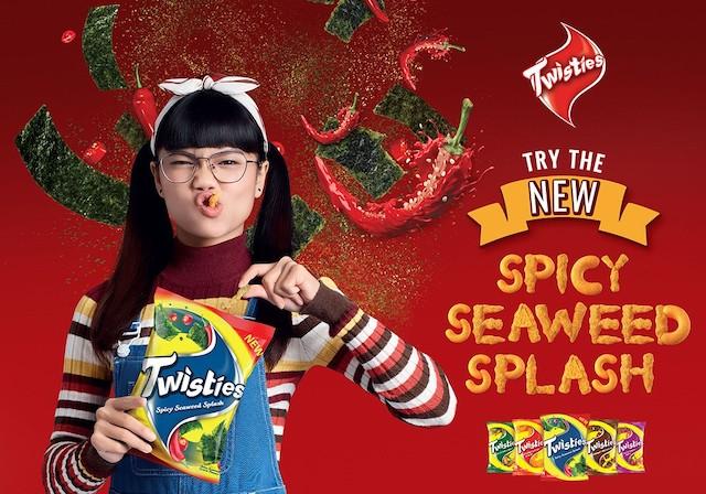 Twisties Tonjol Kelainan #KasiCampur dengan Spicy Seaweed Splash Baharu