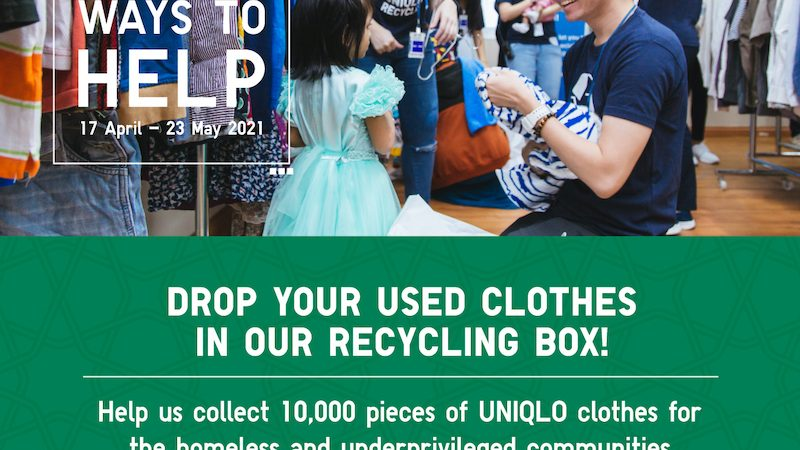 UNIQLO OFFERS MALAYSIA 10,000 WAYS TO HELP THE HOMELESS THIS RAYA